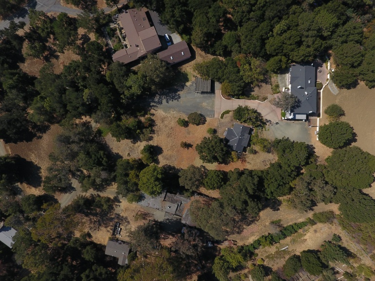 Real estate property boundary aerial